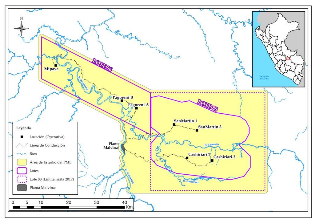 El área de estudio del PMB es de aproximadamente 250 mil hectáreas.